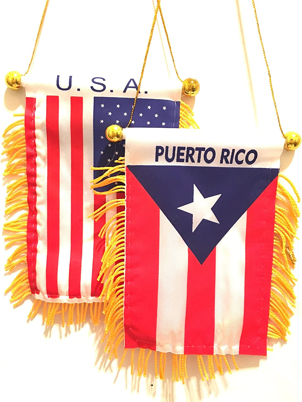 Punto Rico Boricua Puerto Rico Americano Puerta Rico Retrovisor ...