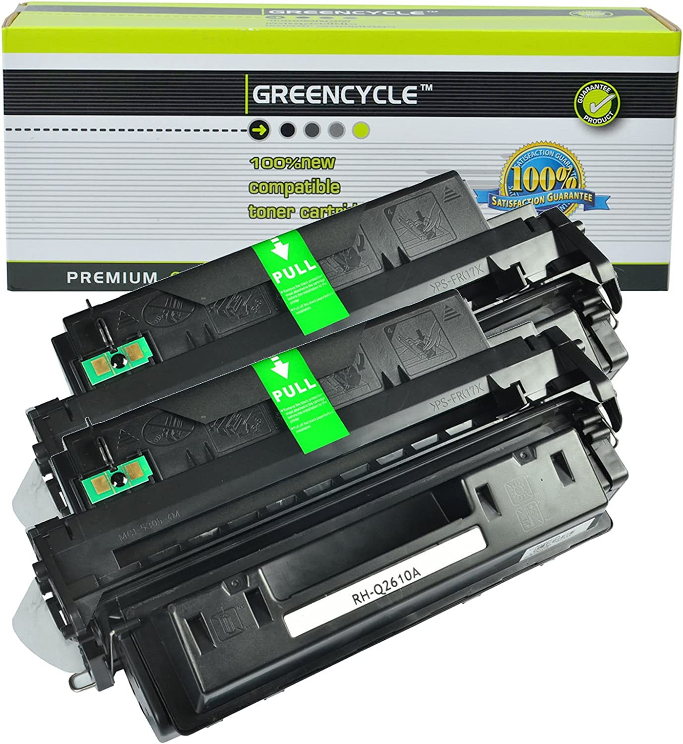 GREENCYCLE 2 Pack High Yield 10A Q2610A Toner Cartridge Replacement Compatible for HP Laserjet 2300 2300d 2300dn 2300dtn 2300L 2300n Printer
