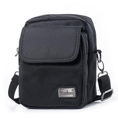 Hengwin Borsa a Tracolla Uomo Borsello Spalla Piccolo Messenger Bag in  Nylon Borsa da Cintura per 6da08a9a1c0