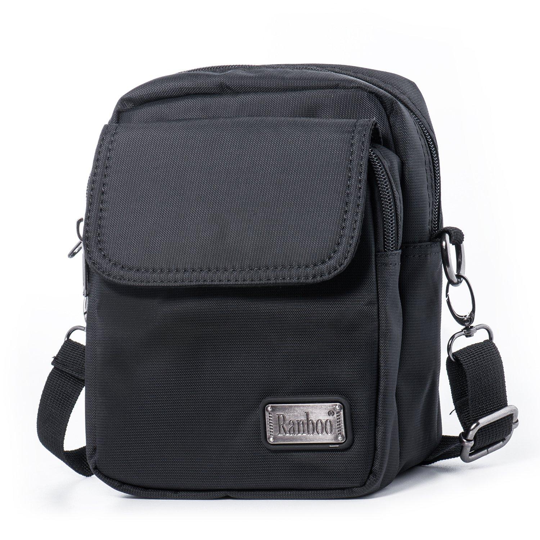 Hengwin Unisex Nylon Bolsa de Hombro Pequeña Bolsa de Cinturón (Negro) product image