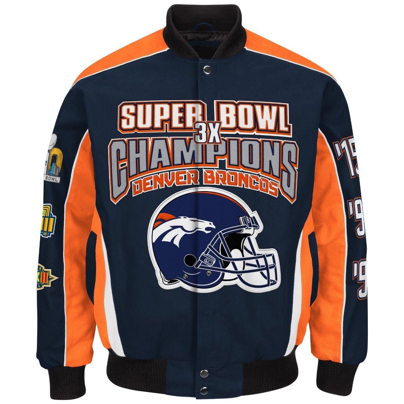 wholesale dealer 29b30 2db62 Denver Broncos 3 Time Super Bowl 50 Champions Cotton Twill Jacket By G-III