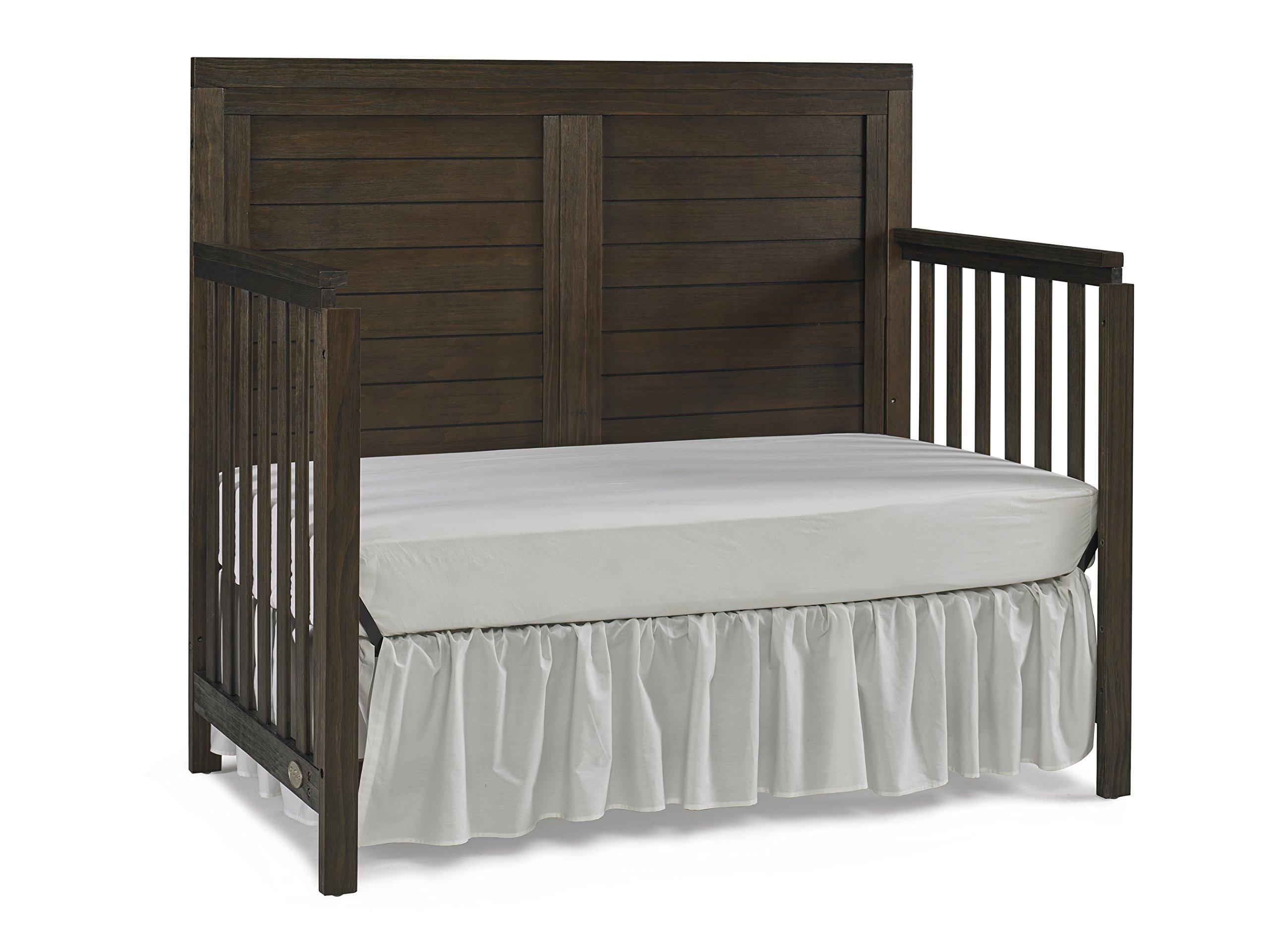 Ti Amo Castello 4 in 1 Convertible Crib, Wire Brushed Brown by Tiamo (Image #7)