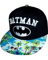DC Comics Batman Tropical Snapback Adjustable Flat Bill Hat