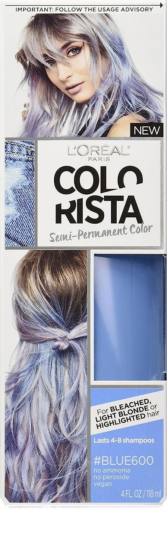 LOreal Paris Colorista Semi Permanent Hair Color Light Bleached Blondes Blue