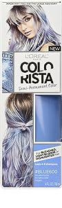 L'Oréal Paris Colorista Semi-Permanent Hair Color for Light Bleached or Blondes, Blue