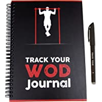 Track Your WOD Journal - The Ultimate Cross Training Tracking Journal. 3rd ed. 6x9 Hardcover w/Pen Included. Track 210 WODs, 9 benchmarks + 25 Girls + 25 Hero WODs, and All Your Personal Records.