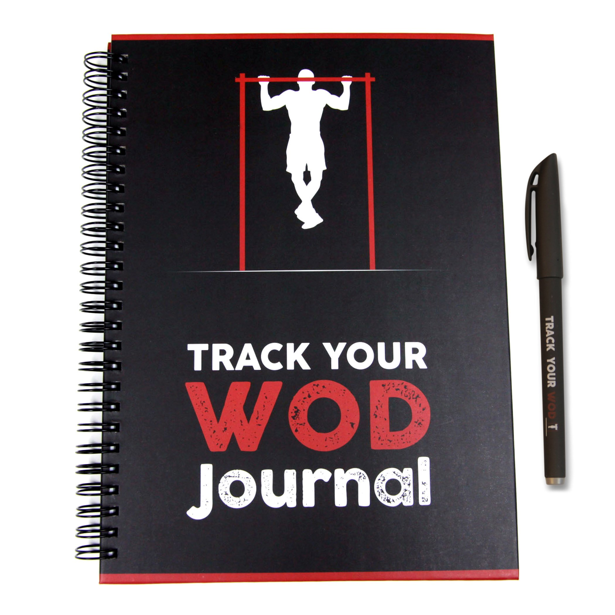 Track Your WOD Journal - The Ultimate Cross Training Tracking Journal. 3rd ed. 6x9 Hardcover w/ pen included. Track 210 WODs, 9 benchmarks + 25 Girls + 25 Hero WODs, and all your Personal Records. by TYWOD