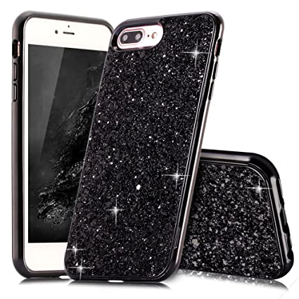 black glitter iphone 8 plus case