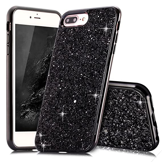 5719d70010 iPhone 8 Plus Case Glitter,Qbily iPhone 7 Plus Case Luxury Sparkle Bling  Glitter Phone