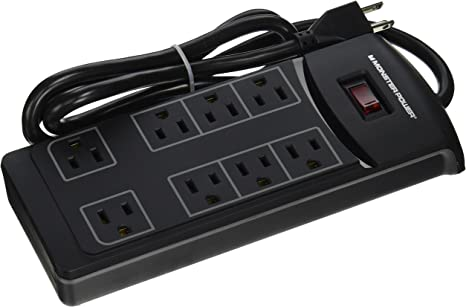 Amazon.com: Monster Essentials 800 8 Outlets Surge Protector ...
