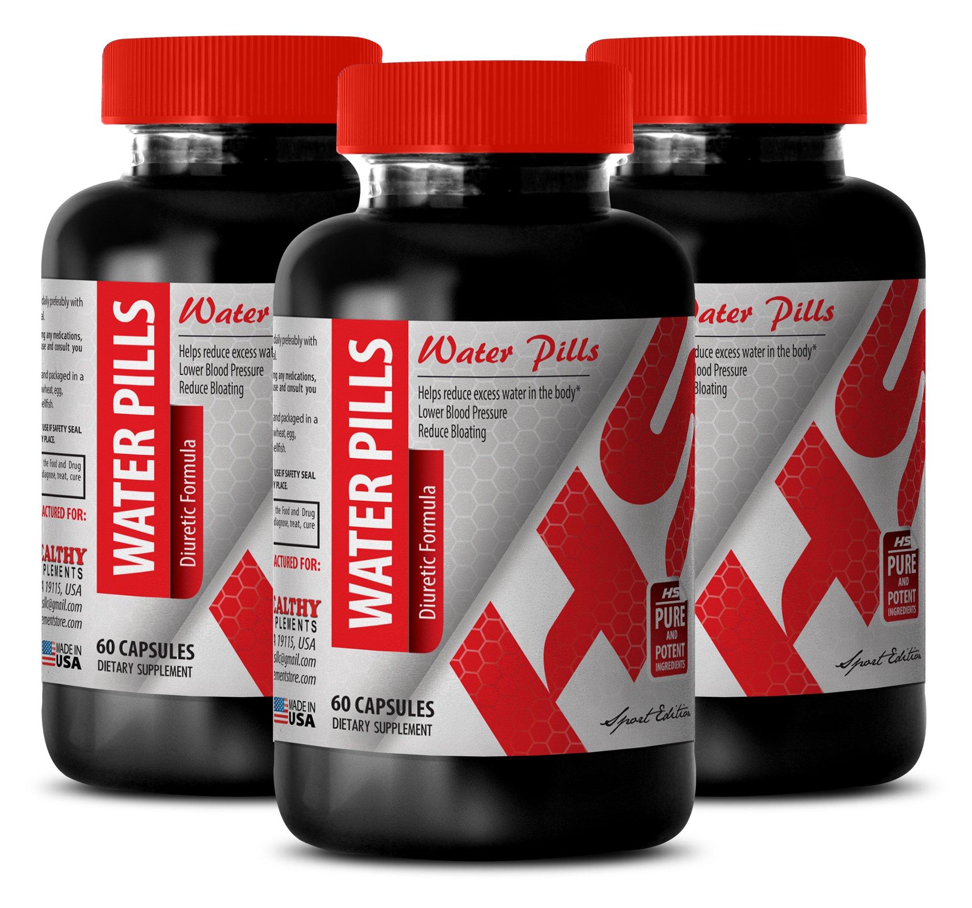 Apple cider vinegar organic capsules - WATER PILLS DIURETIC FORMULA - improve circulation (3 Bottles)