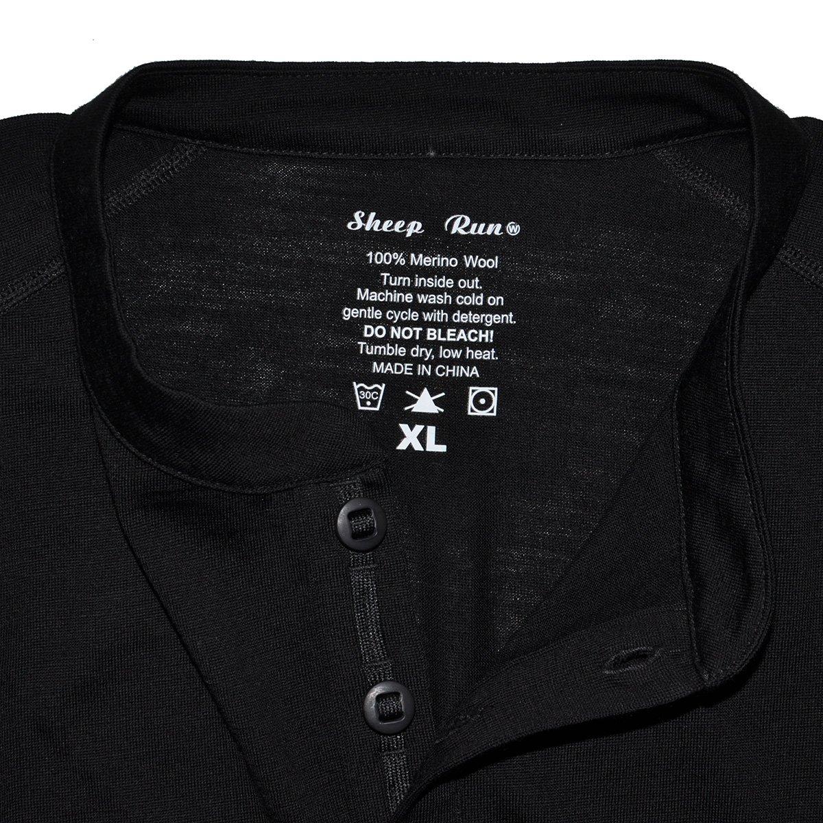 790d4cf9a081 Men's 100% Merino Wool Lightweight Long Sleeve Base Layer Tops at Amazon  Men's Clothing store: