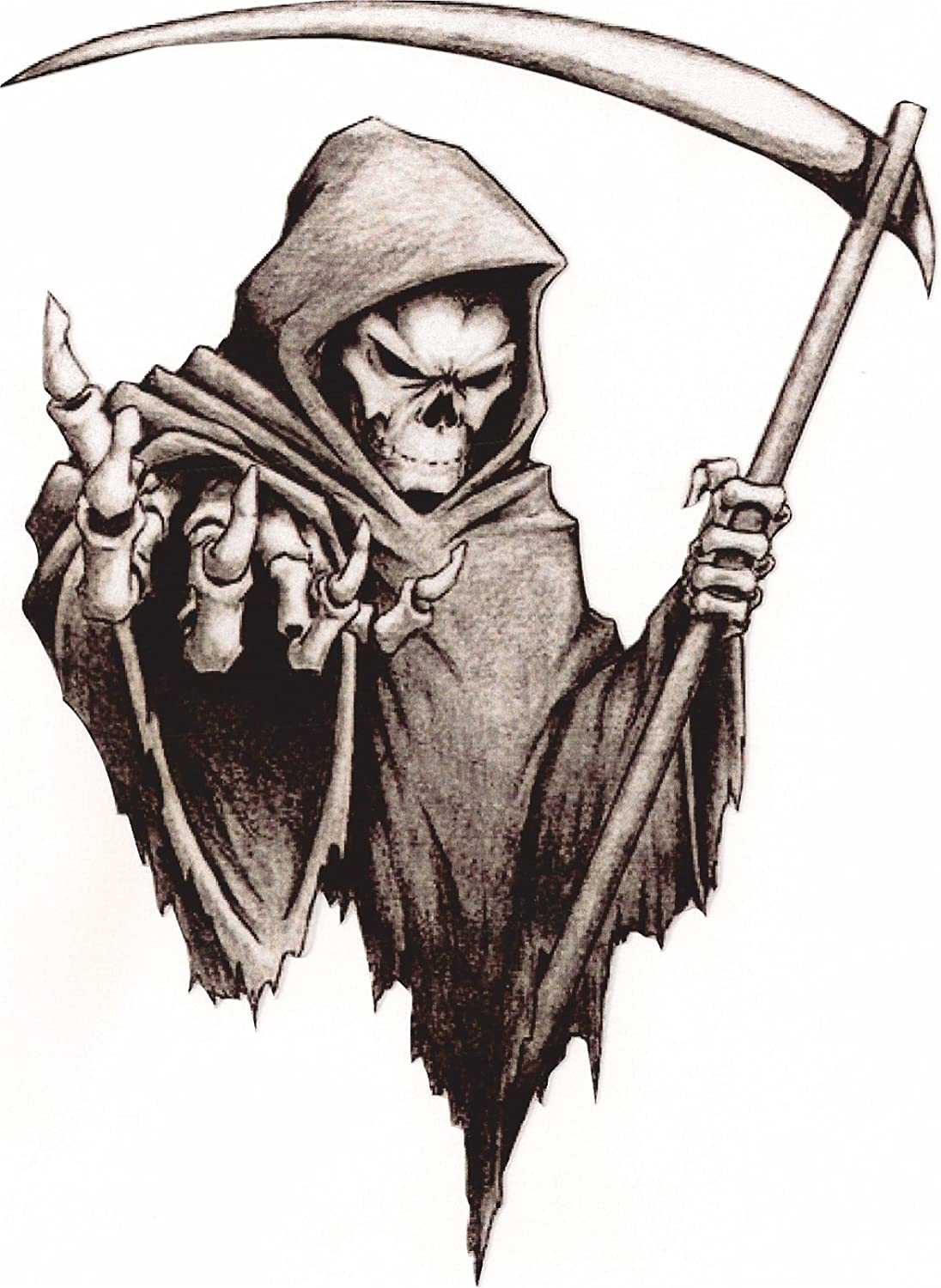 Vinyl sticker/decal Medium 120mm grim reaper - facing right Graphic Effects
