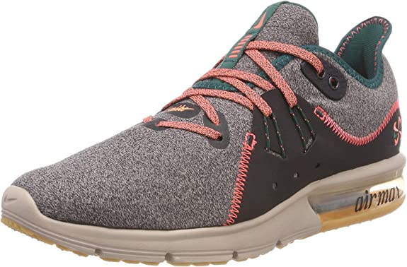 Nike Wair MAX Sequent 3 PRM V, Zapatillas de Running para Mujer, Gris (Oil Grey/Bright Mango-Diffused Taupe 001), 39 EU: Amazon.es: Zapatos y complementos