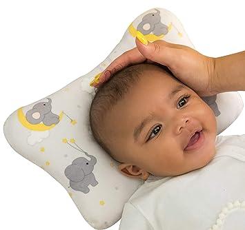 Amazon.com: Cojín de cabeza plana para bebé, diseño de ...