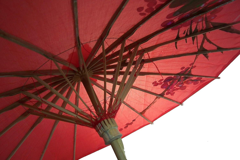 Sonnenschirm 001 Dekoschirm Aus Kunstfaser Wasserfest In Rot Aus