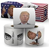 Donald Trump Toilet Paper - The Presidential Pack - 3 Rolls - Funny Political Humor Gag Gift - 2 Full Color Rolls + 1…
