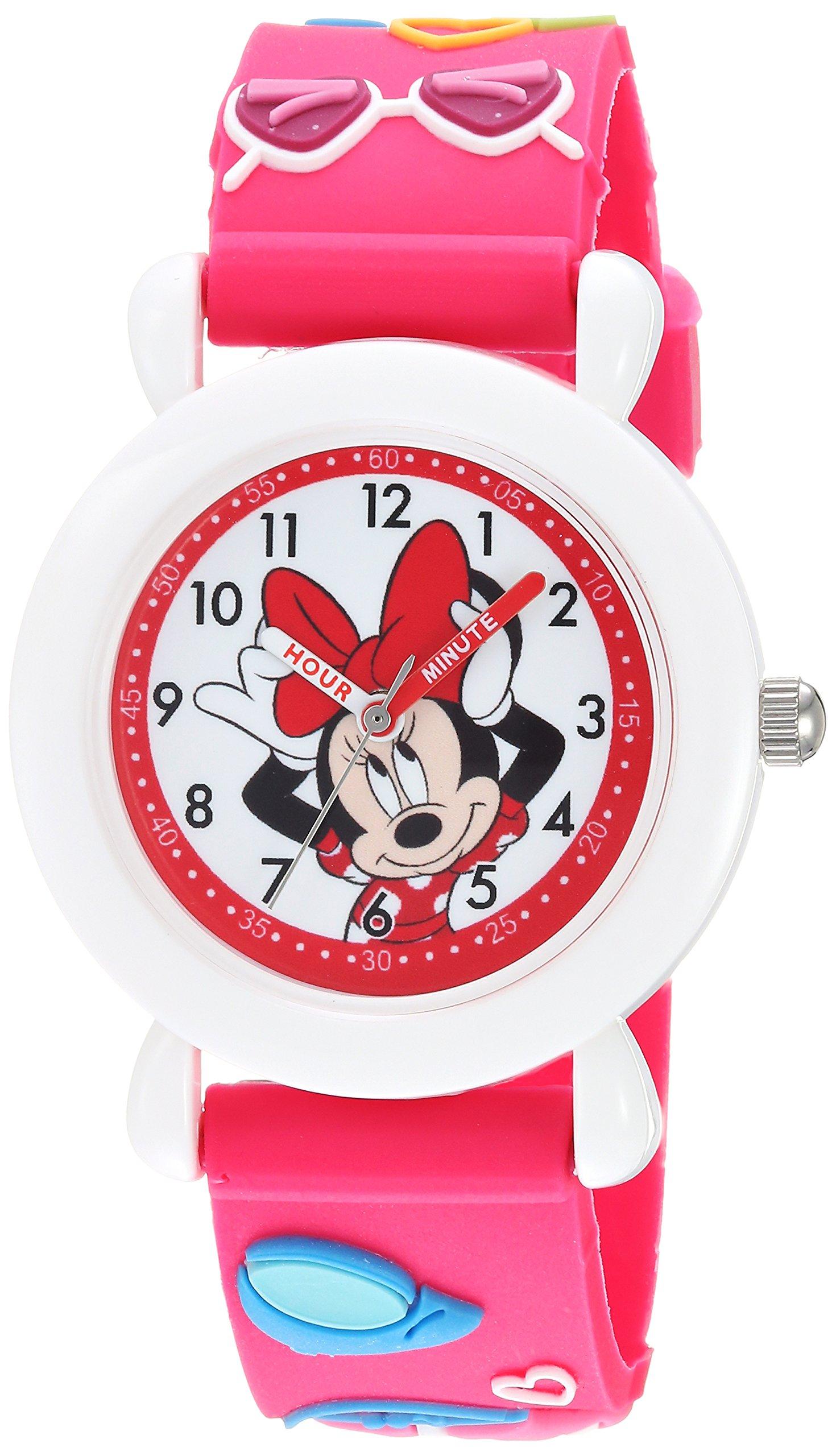 DISNEY Girls Minnie Mouse Analog-Quartz Watch