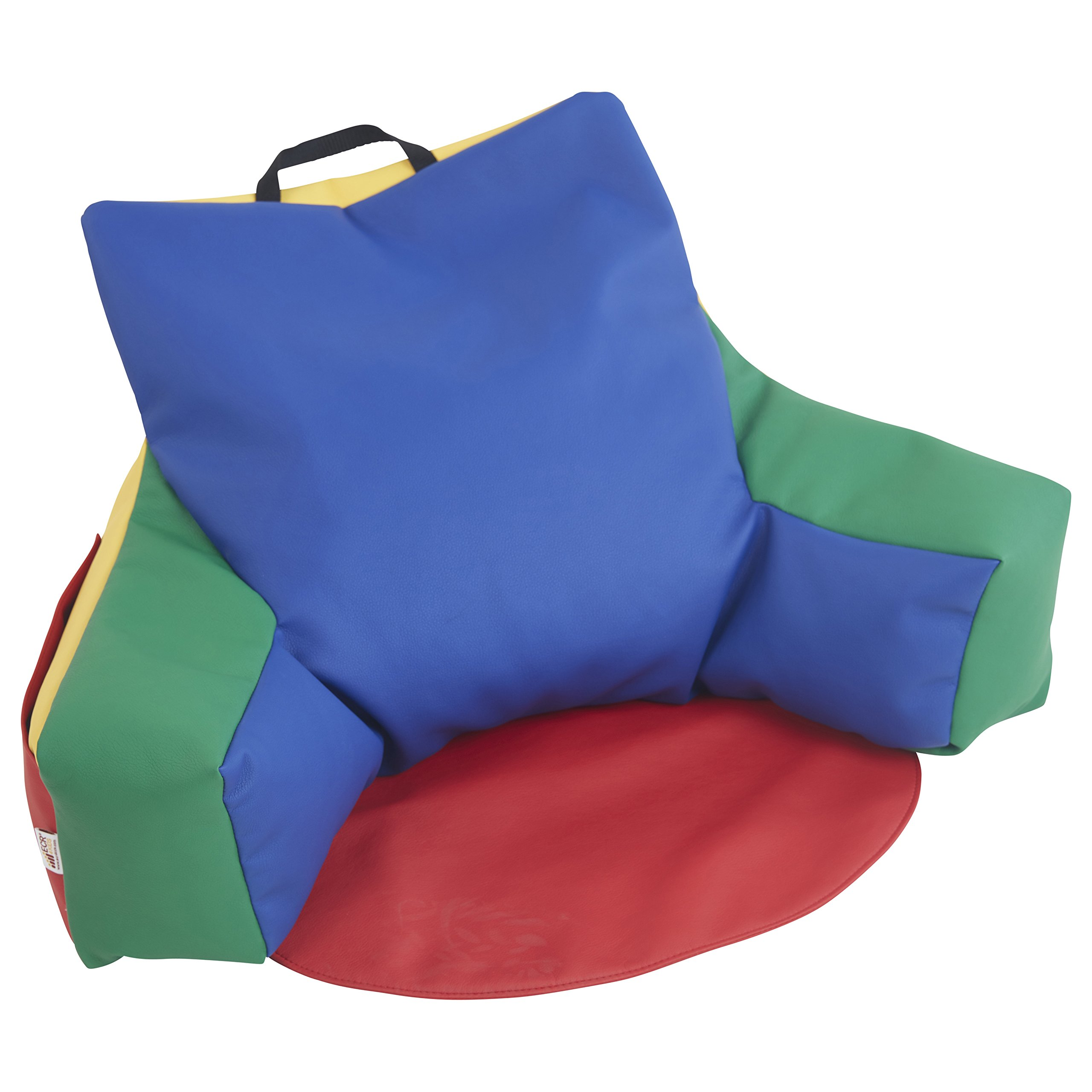 ECR4Kids Relax-N-Read Bean Bag Back Pillow Chair with Storage Pockets, Assorted