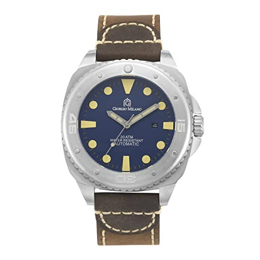 "Giorgio Milano 952st043 ""Explorer"" Diver automático de acero inoxidable reloj de pulsera deportivo"