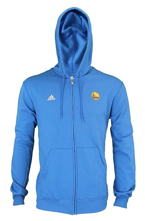 felpa uomo adidas blu zip