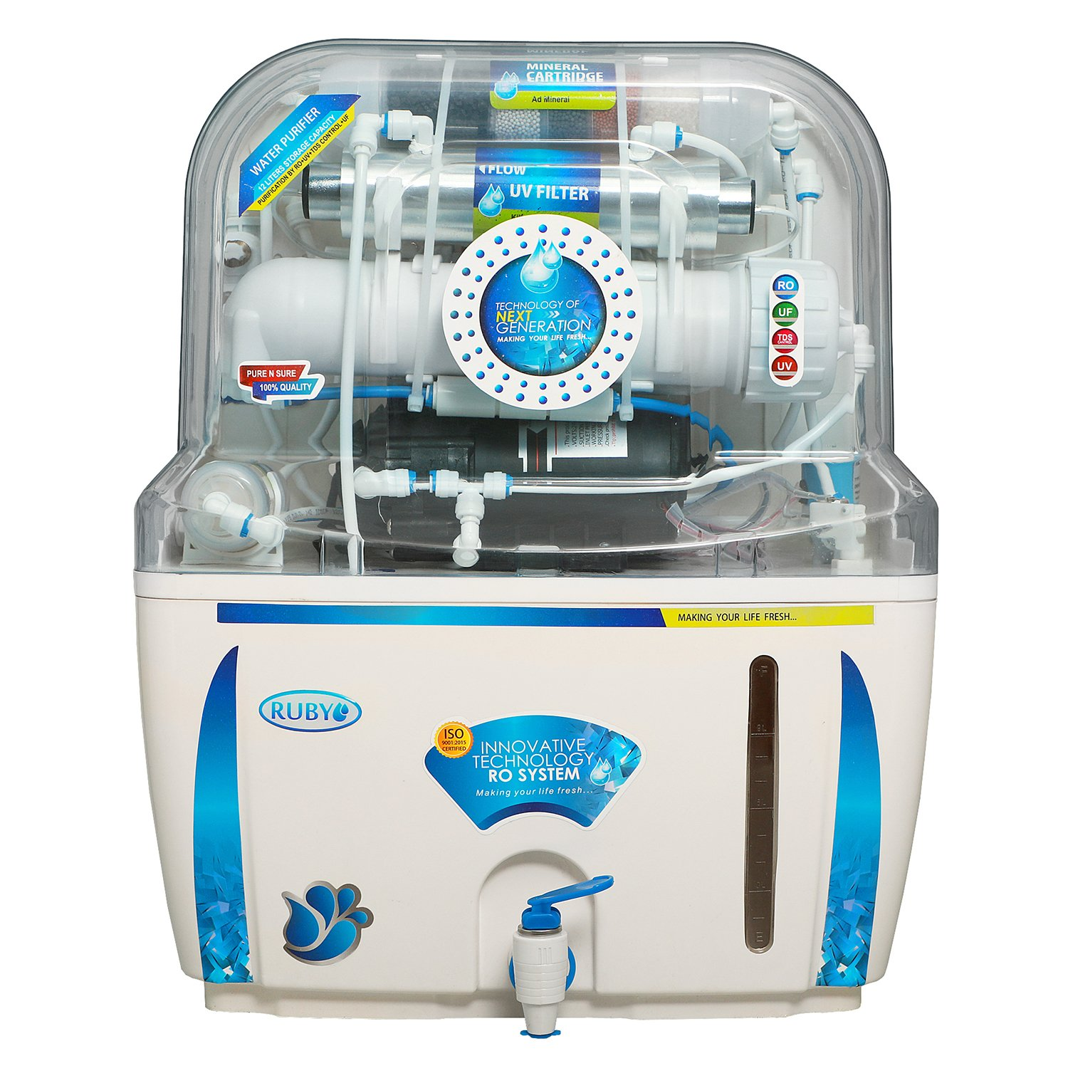 bd5b62cf411 Ruby RO+UV+TDS Controller Water Purifier  Amazon.in  Home   Kitchen