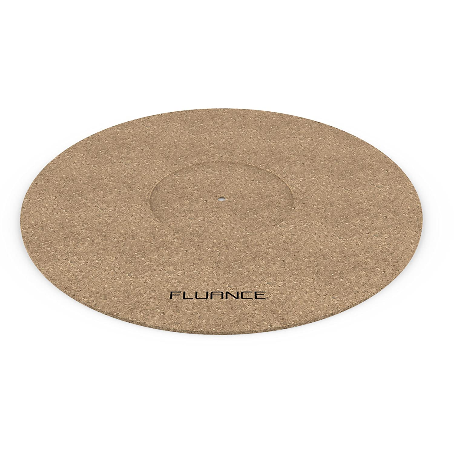 Fluance Turntable Cork Platter Mat - Audiophile Grade Improves Sound & Performance for Vinyl Record Players (TA21)