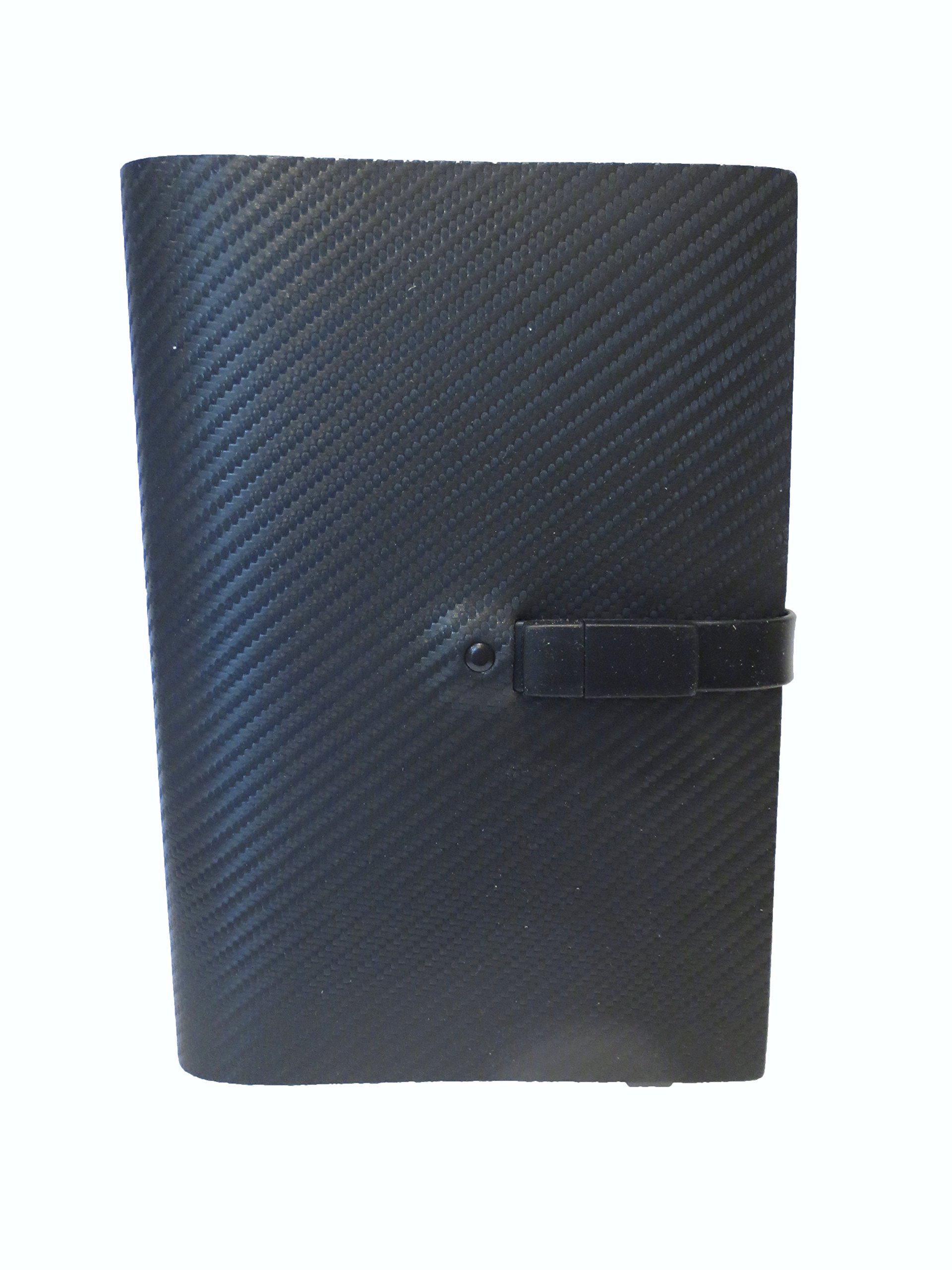 Pinetti 6x8'' Quattrogiga Black Leather Notebook with 4GB USB Drive