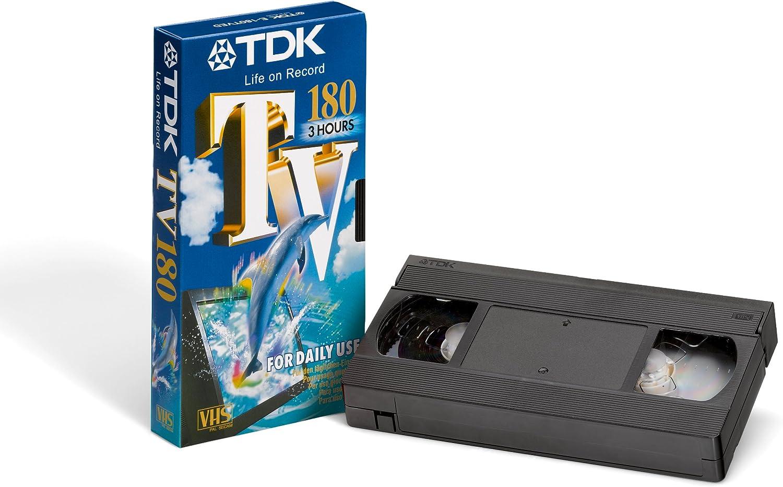 TDK TV 180 VHS cinta de video (5 Pack) Everyday 8PB 192pp: Amazon.es: Electrónica