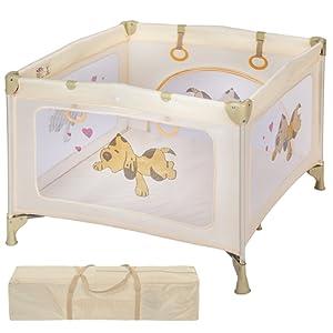 TecTake Parc pour Bébé Lit de Bébé Parapluie Pliant avec Sac de Transport - diverses couleurs au choix -