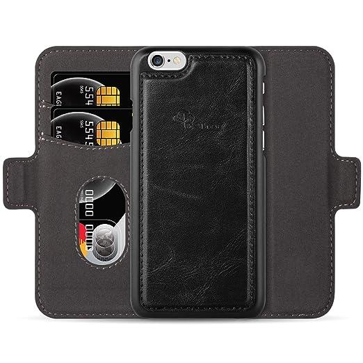 8 opinioni per Custodia e portafoglio per iPhone 6/6S, E-Tree 2 in 1 staccabile Case in Pelle
