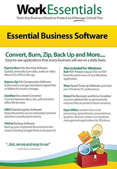 Amazon com: Work Essentials Office Utility Software (PC/Mac)