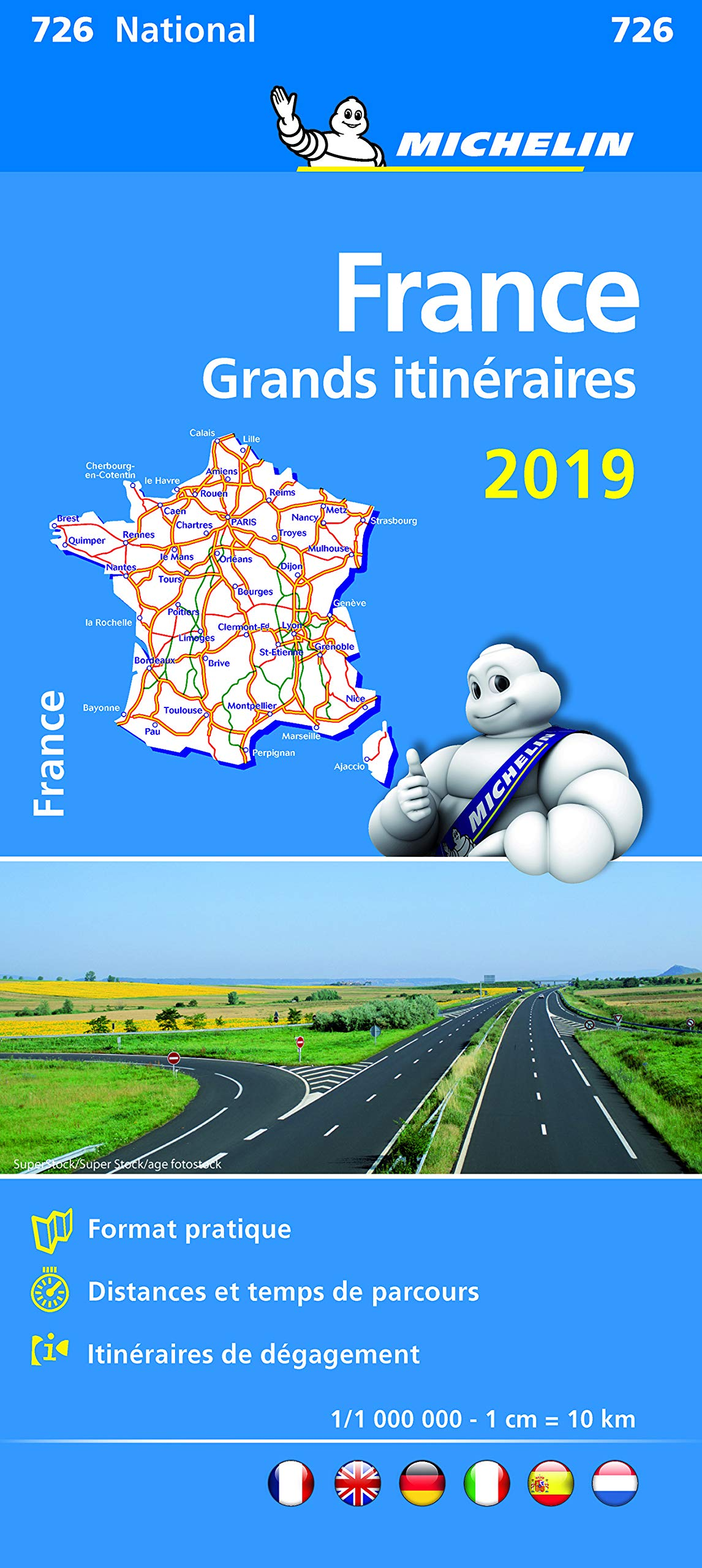 France Route Planning 2019 - Michelin National Map 726: Map