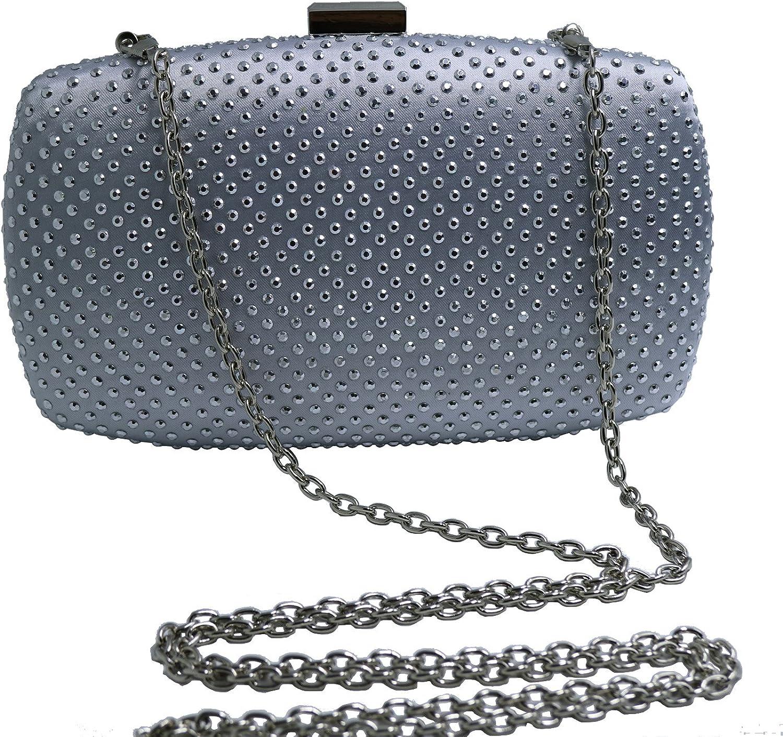 DMIX Womens Hard Case Party Clutch Evening Bags