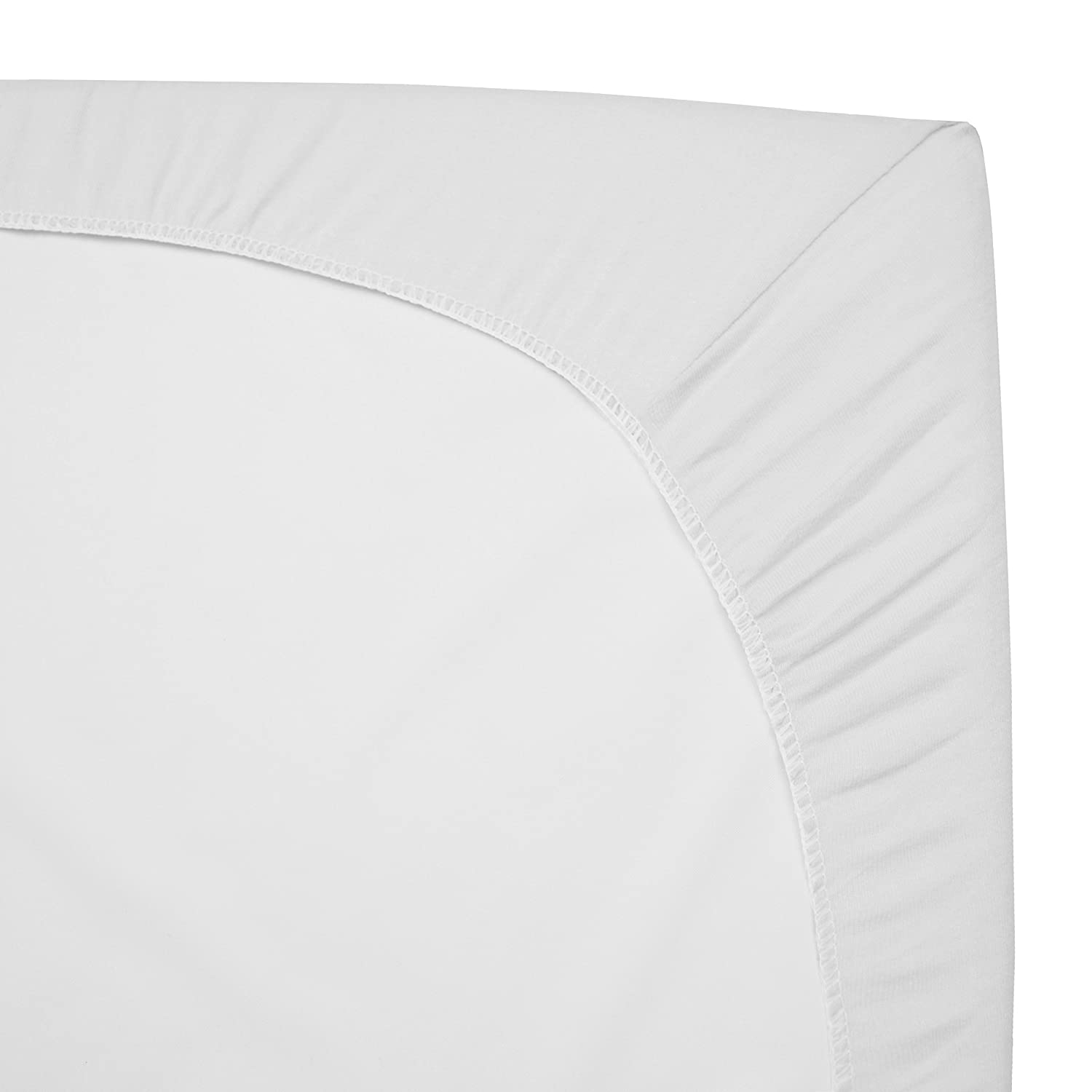 Fitted,/White Soft Breathable American Baby Company 3 Pack 100/% Natural Cotton Jersey Knit 18 x 36 Cradle Sheet for Boys and Girls