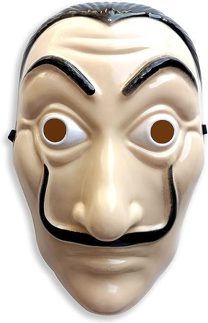 Matin & Soir Máscara CASA de Papel rígida de Dali, Ideal para el Disfraz de CASA de Papel para la Cara: Amazon.es: Juguetes y juegos