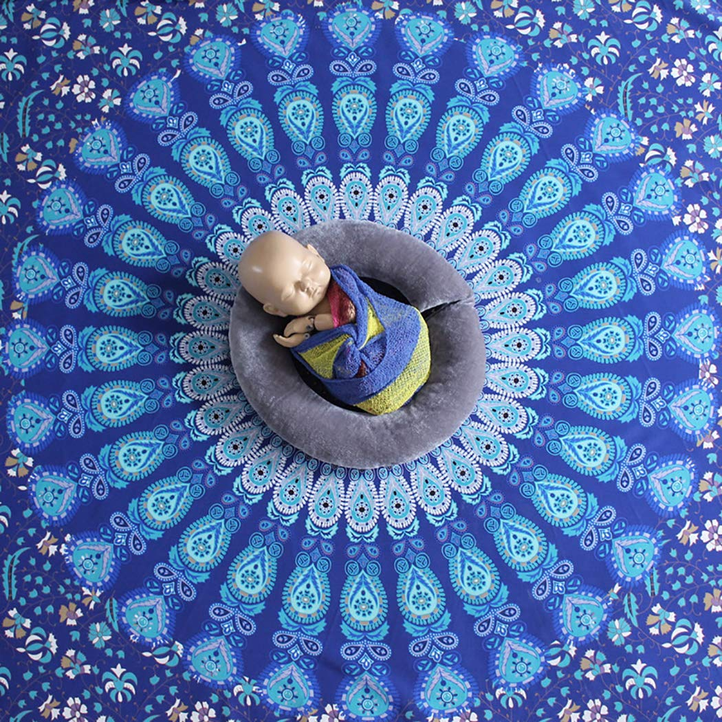 Baby Photography Blanket Ethnic Round Newborn Photo Blanket Baby Photo Prop by Kapmore