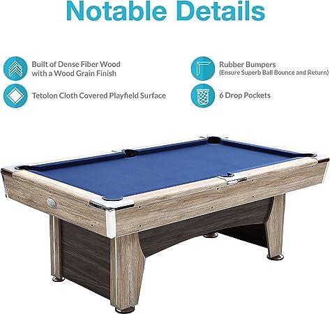 Harvil Beachcomber Mesa de Billar 84 Pulgadas con Libre Set Completo de Accesorios: Amazon.es: Deportes y aire libre