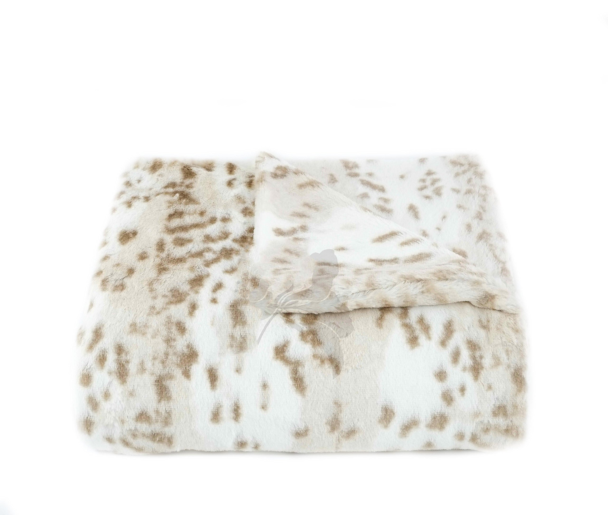 Tourance New Brown Snow Leopard Crib Blanket, 30'' x 30''