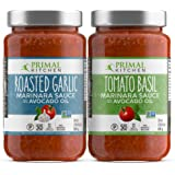 Primal Kitchen Marinara Tomato Sauce 2 Pack, Whole 30 Approved - 1 Tomato Basil & 1 Roasted Garlic