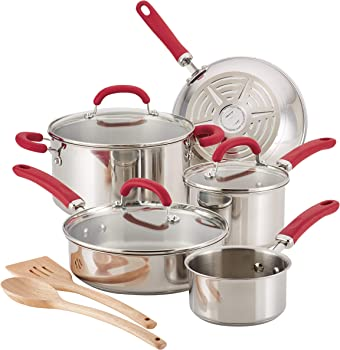 Rachel Ray 70413 Create Delicious 10-Piece Cookware Set