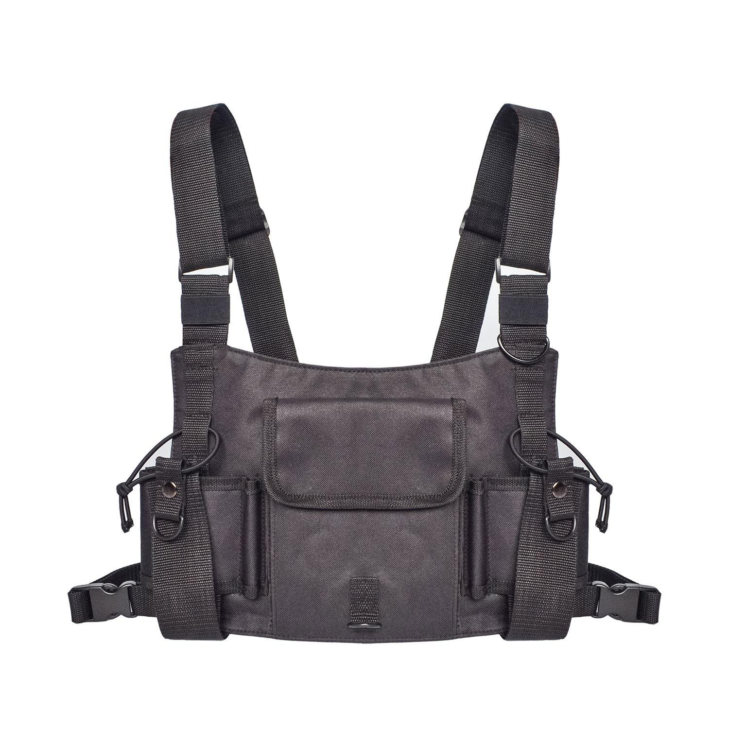 Womdee Universal Radio Chest Harness, Adjustable Chest Rig Bag for Tow Way Radio Walkie Talkie