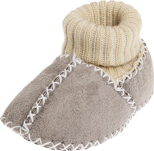Playshoes Babyschuhe In Lammfell-Optik Mit Strickbund, Zapatillas de Estar por casa para Bebés: Amazon.es: Zapatos y complementos
