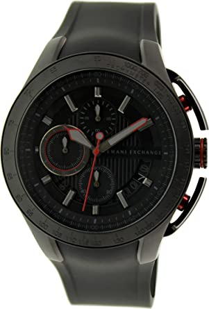 Image Unavailable. Image not available for. Color  AX1401 Armani Exchange  Black Silicone Chronograph ... 3c53f98d17