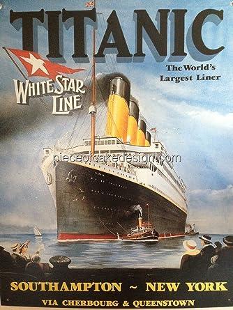 1/4 Hoja ~ Titanic más grande del mundo decoración tarta ...