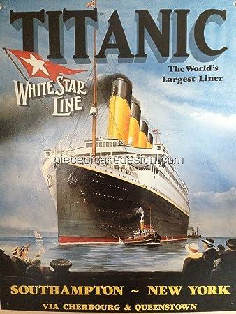 1 4 Sheet Titanic Worlds Largest Liner Birthday Edible Cake