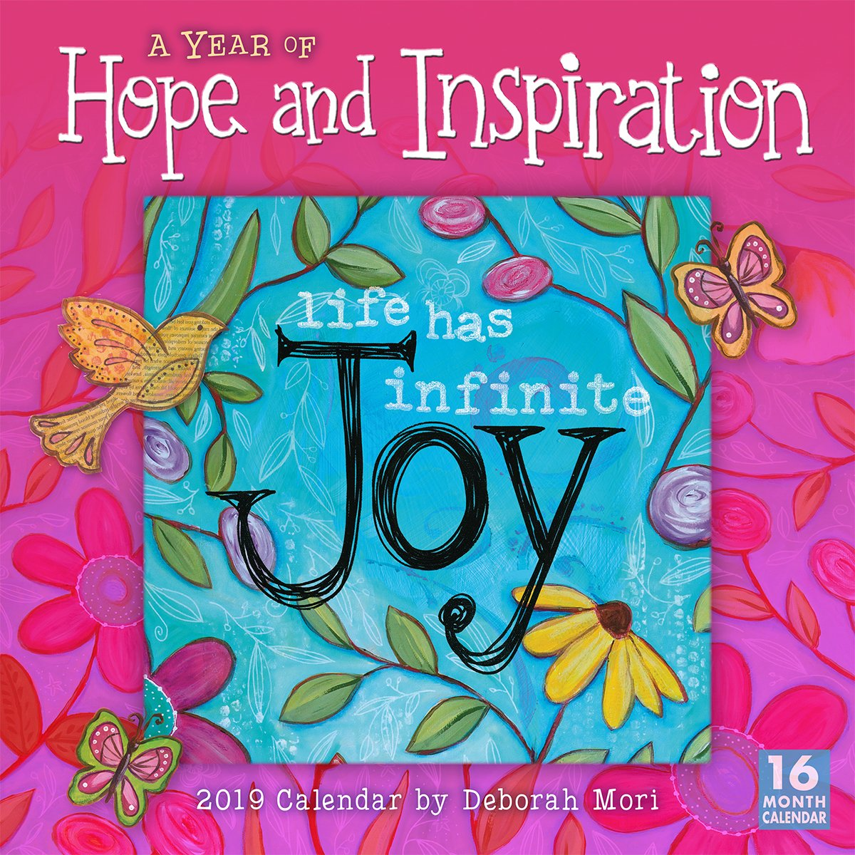 2019 A Year of Hope and Inspiration 16-Month Wall Calendar: by Sellers Publishing, 12x12 (CA-0417) Calendar – Wall Calendar, Aug 15 2018 Deb Mori Inc. 1531904173 /