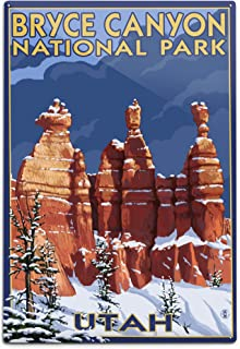product image for Bryce Canyon National Park, Utah, Winter Scene #2 (12x18 Aluminum Wall Sign, Wall Decor Ready to Hang)