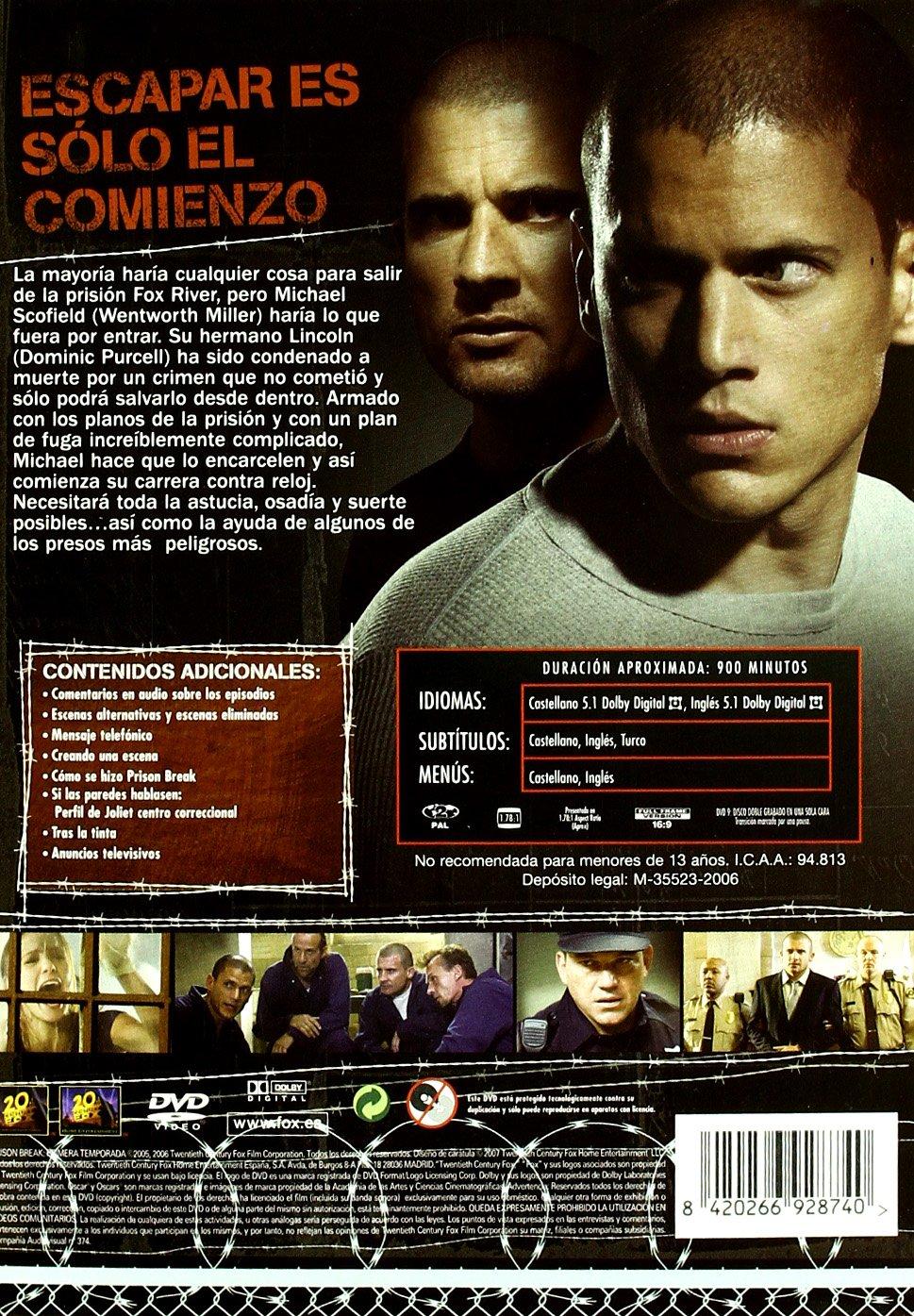 Amazon.com: Prisión Break (1ª Temporada) (Import Movie) (European Format - Zone 2) (2009): Movies & TV
