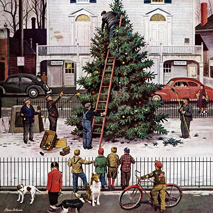 Image result for norman rockwell christmas paintings